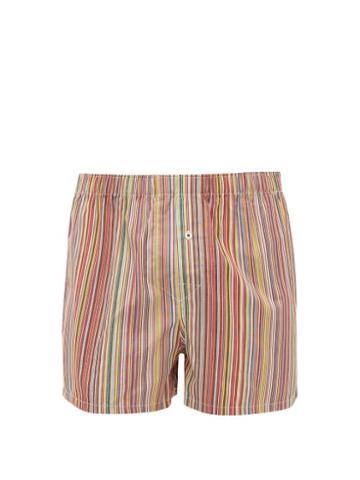 Matchesfashion.com Paul Smith - Signature Stripe Cotton Boxer Shorts - Mens - Multi