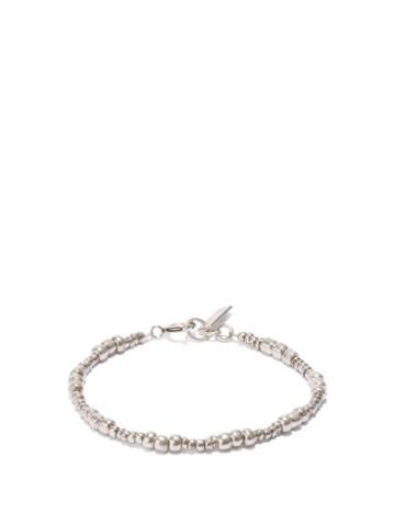 Isabel Marant - Beaded Brass Bracelet - Mens - Silver