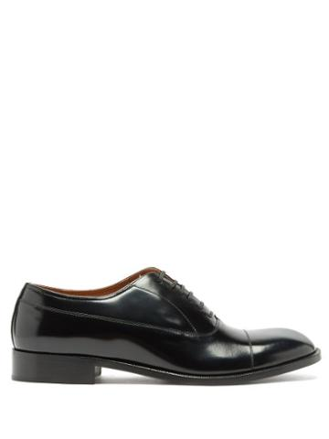 Matchesfashion.com Maison Margiela - Toe-cap Leather Oxford Shoes - Mens - Black