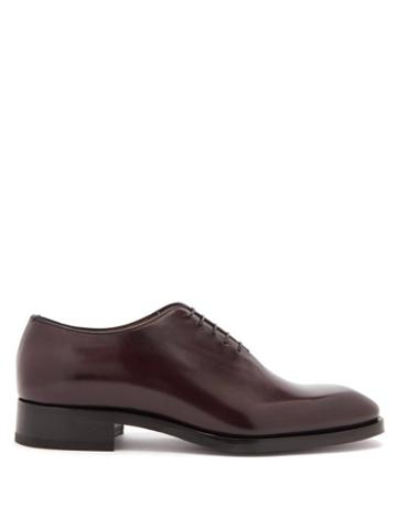 Matchesfashion.com Christian Louboutin - Cousin Corteo Square-toe Leather Oxford Shoes - Mens - Red