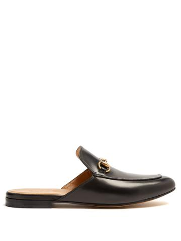 Gucci Kings Leather Backless Loafer