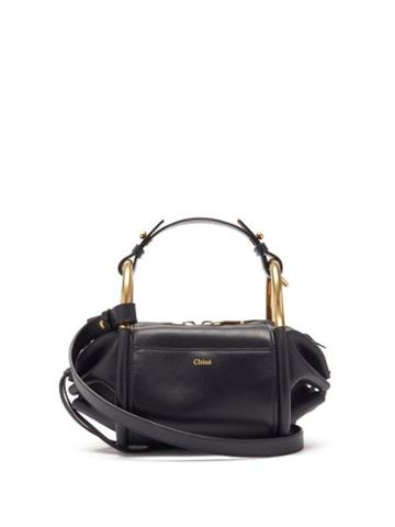 Matchesfashion.com Chlo - Hailey Mini Leather Shoulder Bowling Bag - Womens - Navy