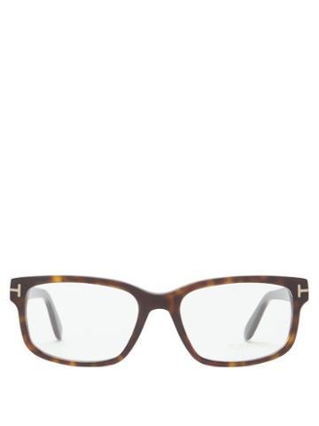 Matchesfashion.com Tom Ford Eyewear - Square Tortoiseshell-acetate Glasses - Mens - Tortoiseshell