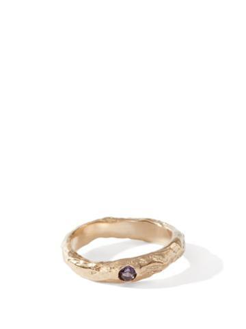 Matchesfashion.com Anita Berisha - February Birthstone & 14kt Gold-plated Ring - Womens - Purple