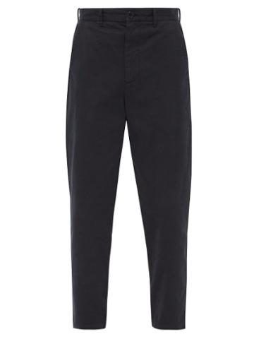Matchesfashion.com Raey - Tapered Cotton Chino Trousers - Mens - Navy