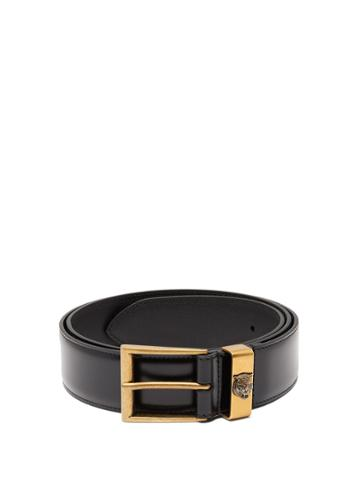 Gucci Tiger-embossed Leather Belt