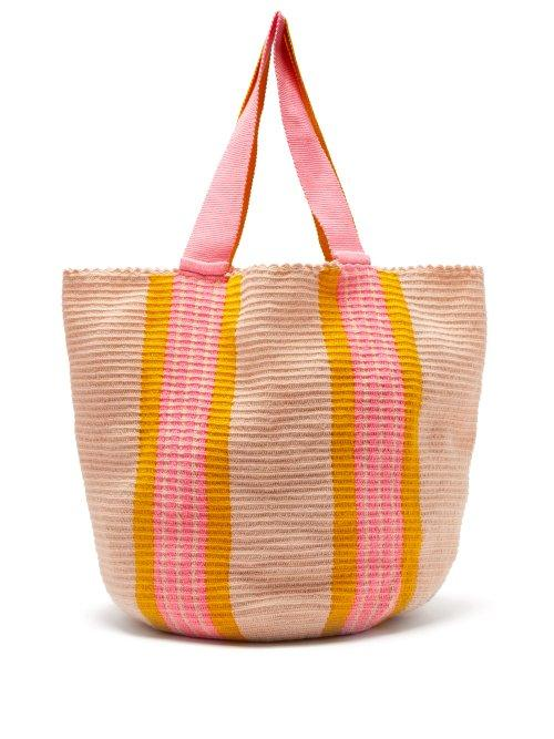 Matchesfashion.com Sophie Anderson - Jonas Woven Tote Bag - Womens - Orange Multi