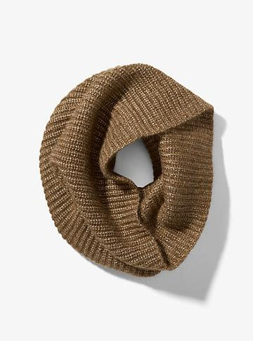 Michael Kors Collection Mohair And Wool Ribbed Cowl Scarf