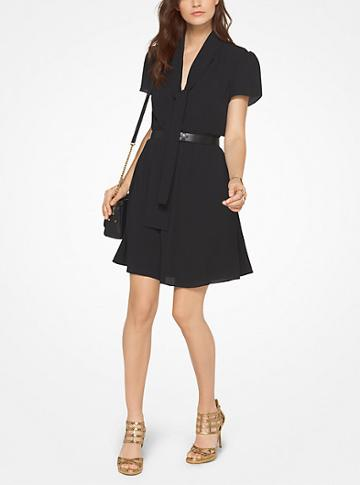 Michael Michael Kors Tie-neck Dress