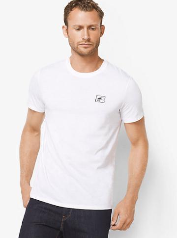 Michael Kors Mens Logo Jersey T-shirt