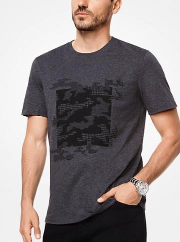 Michael Kors Mens Camouflage Cotton T-shirt