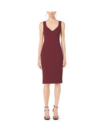 Michael Kors Collection Boucle-crepe Sweetheart Sheath Dress