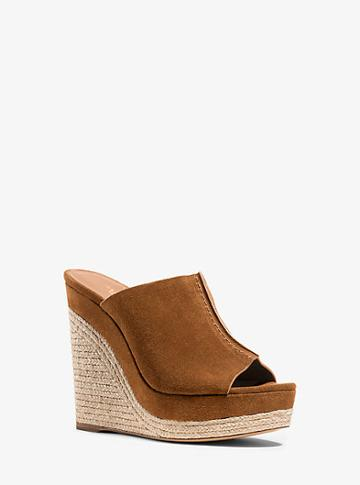 Michael Kors Collection Charlize Suede Wedge