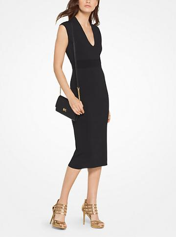 Michael Michael Kors Stretch-viscose Midi Dress