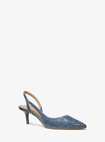 Michael Michael Kors Eliza Flex Crocodile-embossed Leather Pump