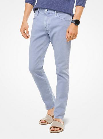 Michael Kors Mens Parker Slim-fit Stretch-twill Jeans