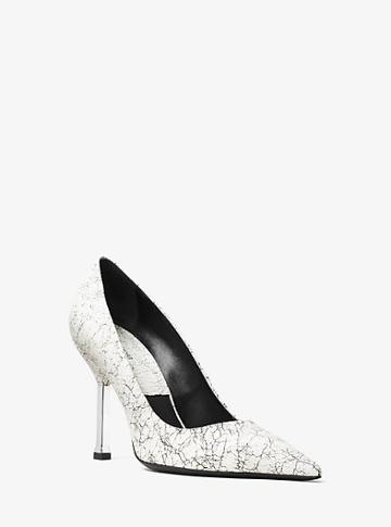 Michael Kors Collection Dresden Crackled Leather Pump