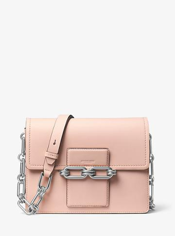 Michael Kors Collection Cate Medium Calf Leather Shoulder Bag