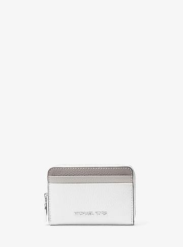 Michael Michael Kors Mercer Small Color-block Pebbled Leather Wallet