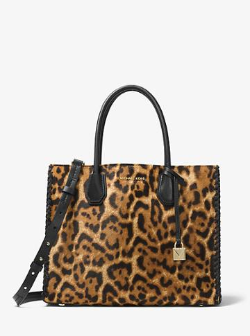 Michael Kors Studio Mercer Leopard Calf Hair Tote