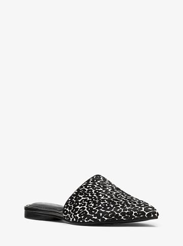 Michael Kors Collection Darla Leopard Calf Hair Mule