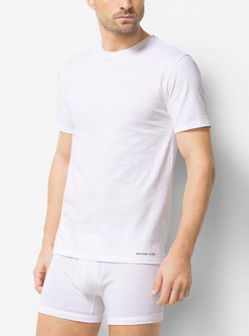 Michael Kors Mens 3-pack Crewneck Cotton T-shirt