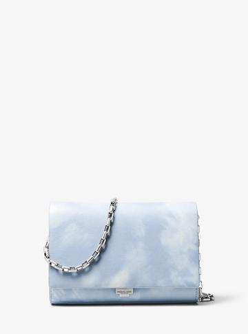 Michael Kors Collection Yasmeen Tie-dye Leather Clutch