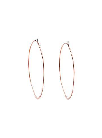 Michael Kors Rose Gold-tone Hoop Earrings