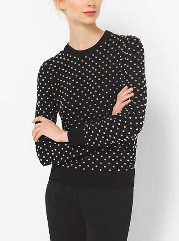 Michael Kors Collection Studded Cashmere Sweater