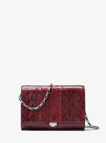 Michael Kors Collection Yasmeen Snakeskin Clutch