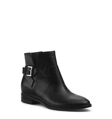 Michael Kors Salem Leather Ankle Boot In Black