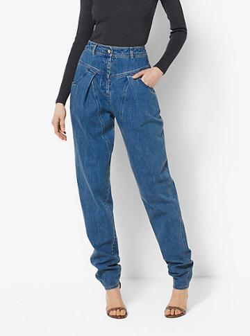 Michael Kors Collection High-waisted Tapered Jeans