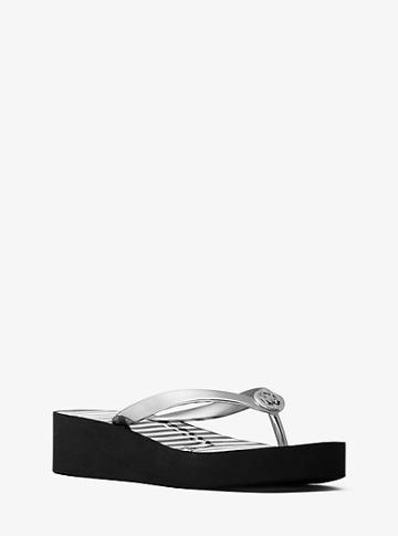 Michael Michael Kors Bedford Glitter Stripe Flip-flop