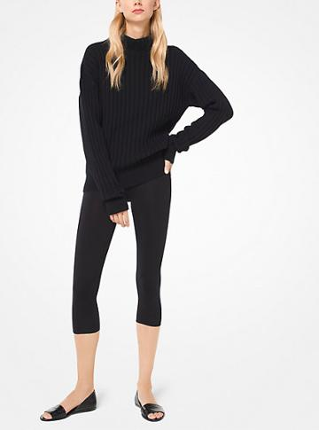 Michael Kors Collection Cropped Cotton Leggings