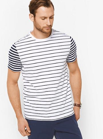 Michael Kors Mens Striped Cotton T-shirt