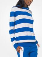 Michael Kors Collection Striped Cashmere And Cotton Hoodie