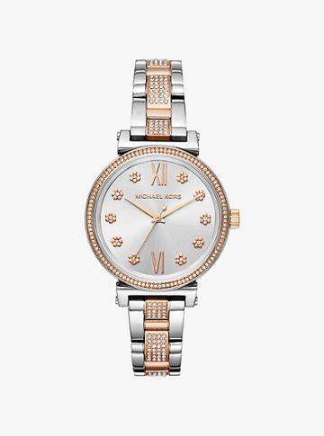 Michael Kors Mini Sofie Pave Two-tone Watch