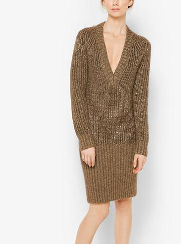 Michael Kors Collection Mohair And Wool Ribbed Sweater Dress