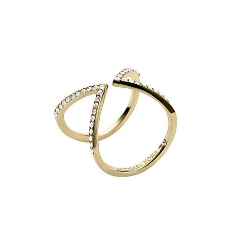 Michael Kors Pav?? Gold-tone Ring