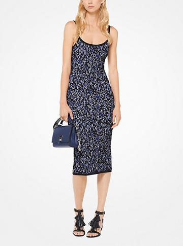 Michael Kors Collection Floral Stretch-viscose Jacquard Dress
