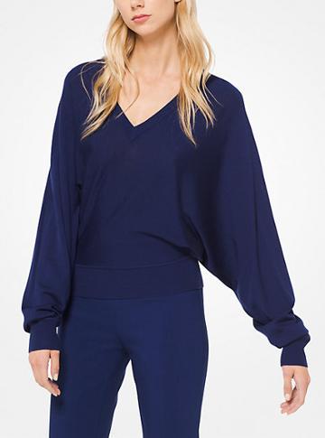 Michael Kors Collection Merino V-neck Pullover