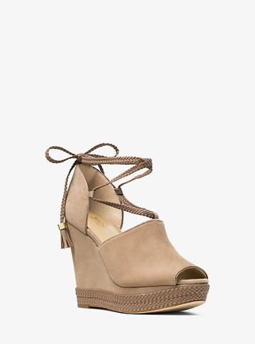 Michael Michael Kors Hastings Lace-up Suede Wedge
