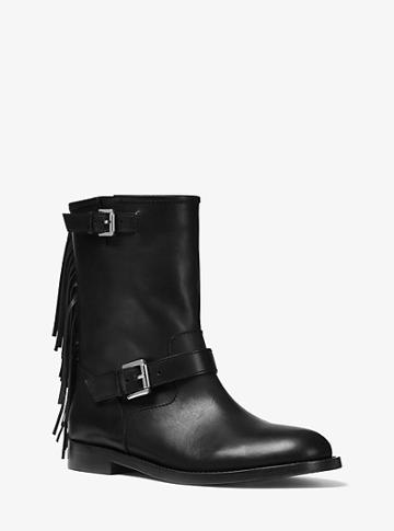Michael Kors Collection Ingrid Fringed Leather Boot