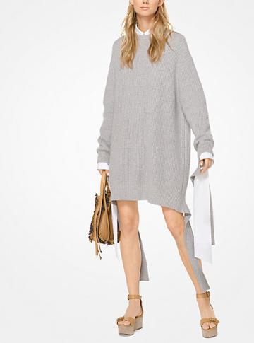 Michael Kors Collection Ribbed Cashmere Sweater Dress