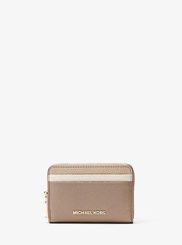 Michael Michael Kors Jet Set Small Color-block Pebbled Leather Wallet