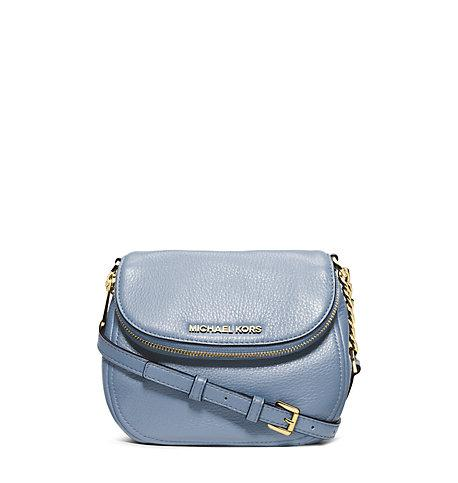 Michael Kors Bedford Leather Crossbody In Pale Blue
