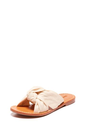 Milly Knotted Slide Sandal - Blush