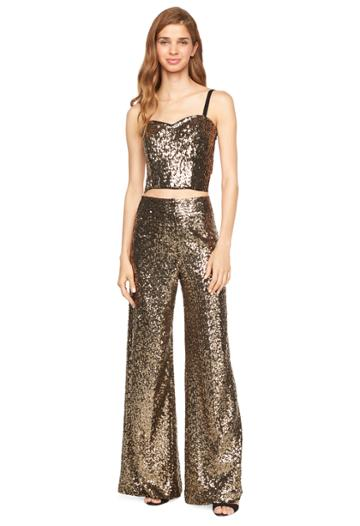 Milly Sequins Bustier Top