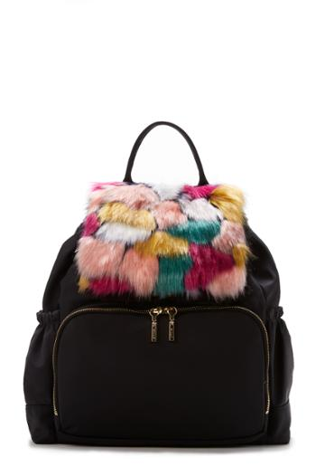Milly Nylon Fur Backpack