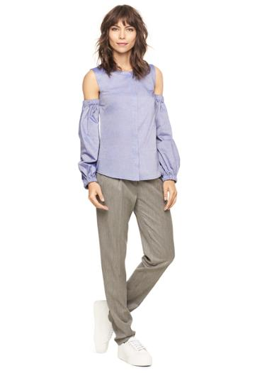 Milly Italian Cross Dye Shirting Mica Top